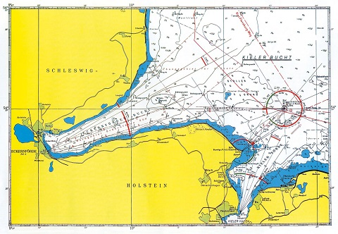 Kieler Bucht Karte.Seebestattung Ab Kiel Strande An Der Kieler Förde Anternia